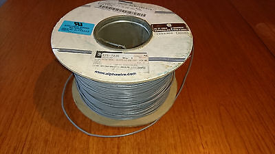ALPHA WIRE, Hook Up Wire, UL1015, PVC, Grey, 22 AWG, 0.357 mm², 7 x30AWG, 300m