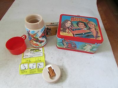 Vintage 1980 Dukes Of Hazzard Lunch Box w/Thermos w/ TAGS Metal Unused NOS