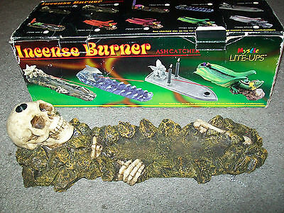 ADAM'S APPLE Skull Skeleton Bones Incense Burner Ash Catcher BRAND NEW IN BOX!