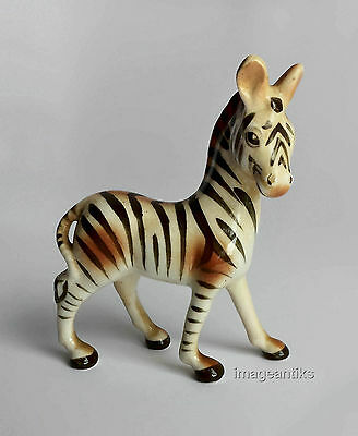 Zebra - Vintage Ceramic Figurine - Adorable
