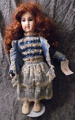 Barb Corning Victorian Style Porcelain Doll, Signed & Hand-Numbered