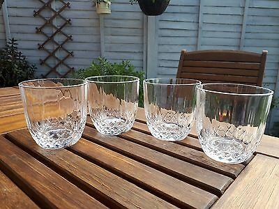 Stunning set of 4 lead cut crystal tumblers Vgc ref 1
