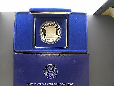 1987 US Constitution Bicentennial Proof Silver dollar, Original Case, No COA