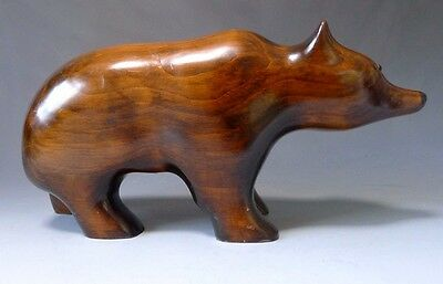 Vintage large hand carved wood grizzly bear by W A Rack Parry Sound Canada