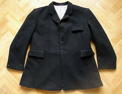SUPERB RH Mears Pytchley Cottesmore black heavy wool frock hunt coat chest 54""