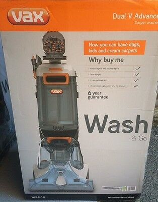 Vax W87-Dv-B Dual V Advanced Upright And Upholstery Carpet Cleaner