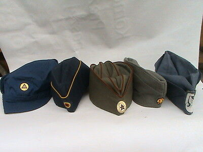 OLD MILITARY CAPS in BEAUTIFUL CONDITION - SET - BARGAIN !!!