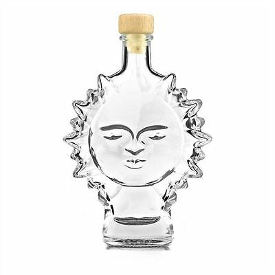 200ml clear glass bottle Sun shaped for hobby or gift liquer