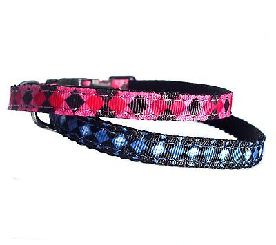 "Wholesale Job Lot 20 adjustable 8-11"" pet puppy dog collars diamond print BNWT"