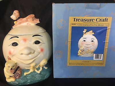New Treasure Craft Cow Jumped Over the Moon Cookie Jar A Pfaltzgraff Company NIB