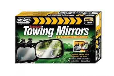 MP8323 Pair of Maypole Extension Towing Convex Glass Mirrors Caravan