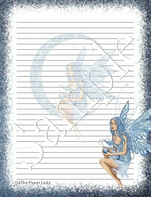 846/Blue Moon Fairy stationery writing paper set