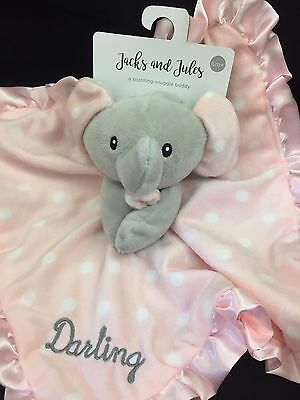 Darling Baby Girl Pink Elephant Security Blanket Snuggle Buddy Lovey Nunu