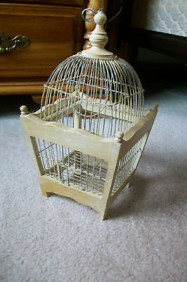 Vintage Small Wood and Wire  Decorative Bird Cage