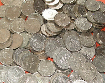* * * Jersey - Bulk Lot of 50 Large Obsolete/Withdrawn 10 Pence 10p Coins * * *