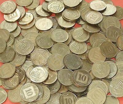 Israel - Bulk lot of 100x 10 Agorot Coins 1985 & later