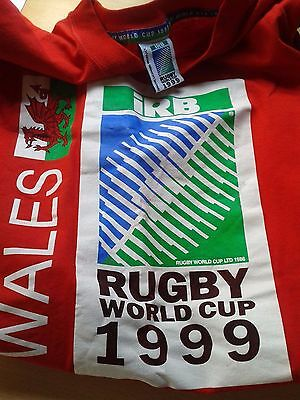 1999 Rugby World Cup Ticket Wales vs Argentina & 1999 Wales Tshirt