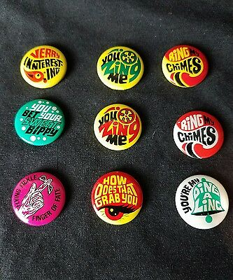Lot of Vintage Buttons From Rowan Martins Laugh In Flying Fickle Finger of Fate