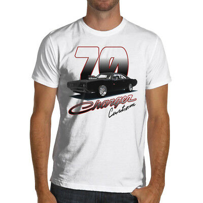 1970 Custom Charger T-Shirt Fast Furious Muscle Car dodge