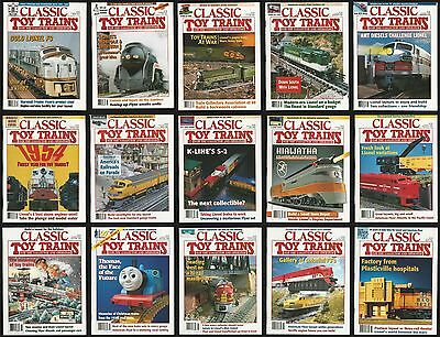Classic Toy Trains Magazine Lot of 15 Issues 1994 1995 1996 Model Railroading