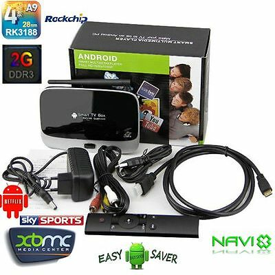New 1.6GHz Quad-Core 2G/8G CS918 Android 4.2 GoogleTV BOX Fully Loaded XBMC