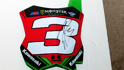 ELI TOMAC #3 red signed number plate,chad reed,ken roczen,ryan dungey