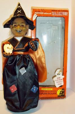 Vintage ELCO WITCH motionettes of HALLOWEEN 1990 moving light up animatronic