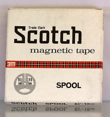 Vintage Scotch Magnetic Tape Spool 5 3/4inch / 15cms with Box