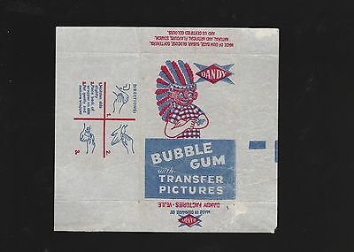 Advertising 1950s NON - SPORT card wax bubble gum wrapper - DANDY TATTOO Denmark