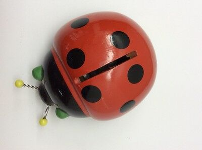 Vintage 1970s Robdal Lady Bug Bank - Made in France