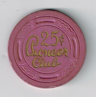 1955 Pioneer Club Casino Las Vegas, Nevada .25 Cent Gaming Chip 1955!
