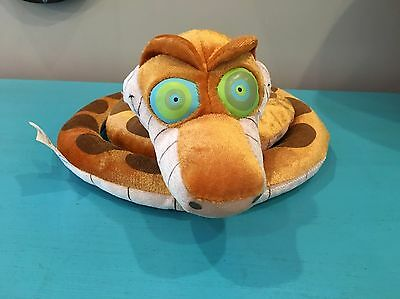 HTF Disney Store Jungle Book KAA Snake Stuffed Animal Plush Glow In Dark Eyes