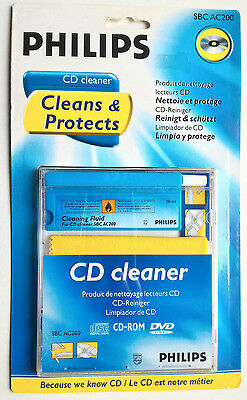 Philips CDDVD Cleaner & Protects SBC AC 200 CD Player