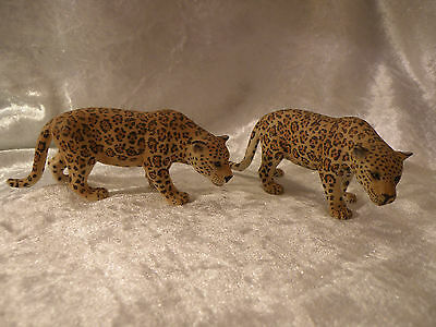 Schleich World Of Nature 2006 Wildlife Jaguar Lot Of 2 Excellent Items