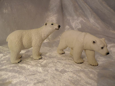 Schleich World Of Nature North American Wildlife 2005, 2011 Polar Bear Lot Of 2