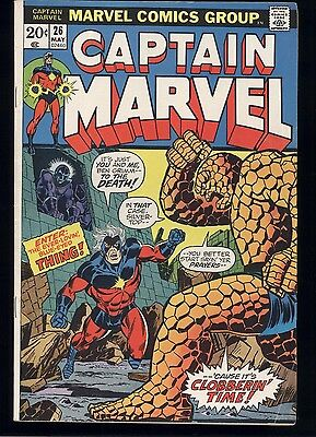 Captain Marvel #26 2Nd Appearance Of Thanos Vg