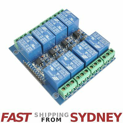 Relay Module, 8 Channels, LEDs, 5V 10A Opto Isolated, Arduino, Ship Sydney