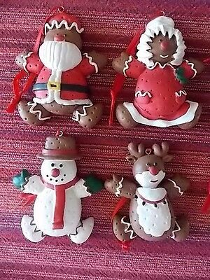 House Of Lloyd Gingerbread People-Set Of 4 Christmas Around The World Ornaments