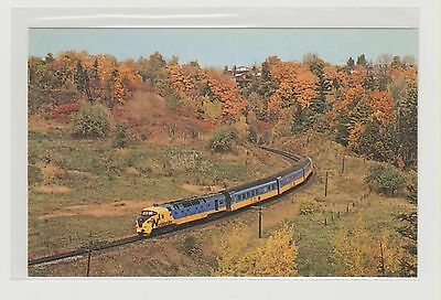 """ONTARIO  NORTHLAND    """"The Northland""""  TEE  TRAIN near Wynford Park, ON. in 1977"""