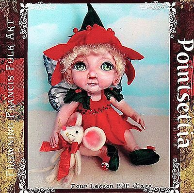 "*new* ""poinsettia Fairy Doll With Mouse"" Class/pattern Tutorial On Cd"
