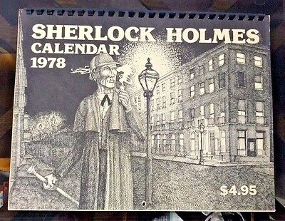 1978 Sherlock Holmes Calendar 1st Ed by Philip Thompson Ned Shaw & Jack Tracy