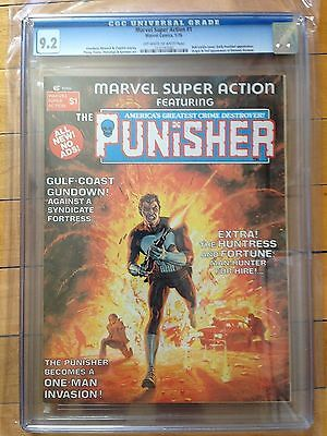 CGC 9.2 Marvel Super Action #1 *OW-White Pages*High Grade*Early Punisher App.*
