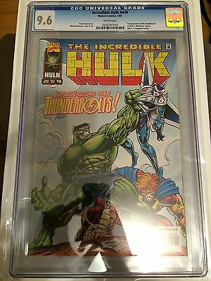 CGC 9.6 Incredible Hulk #449 *White Pages*1st App.Thunderbolts*1997