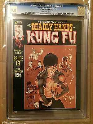 CGC 9.0 Deadly Hands of Kung Fu #14 *Neal Adams cover*Bruce Lee pin-up*1975