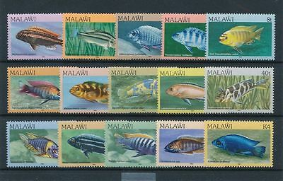 MALAWI, SC 427-441, 1984 Fish issue, complete set of 12. MNH.