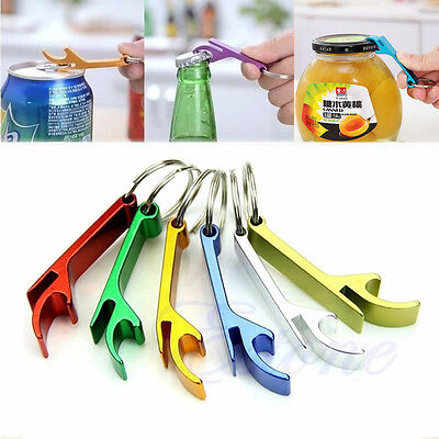 Cute 3Pcs Bottle Opener Key Ring Chain Keyring Keychain Metal Beer Bar Tool Claw