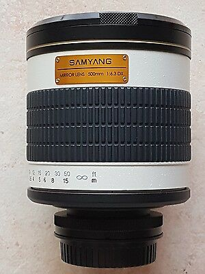 Objectif SAMYANG 500 mm f/5.6 Comme neuf pour Canon