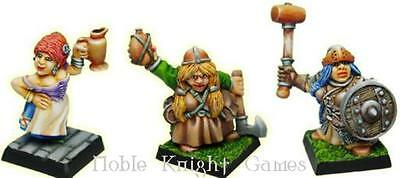Fenryll Fantasy Mini Resin 28mm Female Dwarves Pack MINT