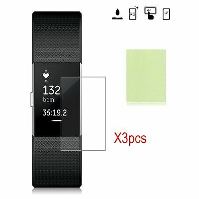 3Pcs Anti Scratch Clear Screen Protector Film Cover For Fitbit Charge 2