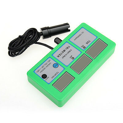 5-in-1 Digital Water Quality Monitor Pool pH °C °F EC TDS RH Meter Tester